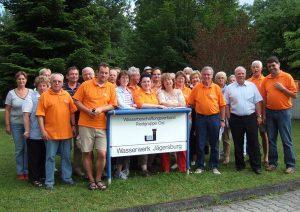 Politische Radtour 2007 zum Wasserwerk
