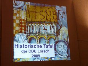 Historische Tafel 2009