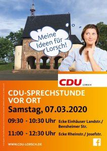 CDU Sprechstunde vor Ort: Ecke Einhäuser Landstr. / Bensheimer Str. @ Ecke Einhäuser Landstr. / Bensheimer Str.