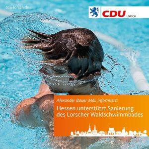 Landesregierung ermöglicht Sanierung des Lorscher Waldschwimmbades