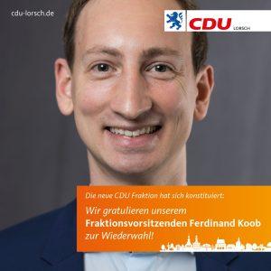 Fraktionsvorsitzender Ferdinand Koob wiedergewählt!
