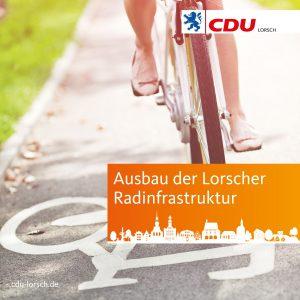"""CDU Antrag: Ausbau der Radinfrastruktur mit """"Sofortprogramm Radverkehr"""""""