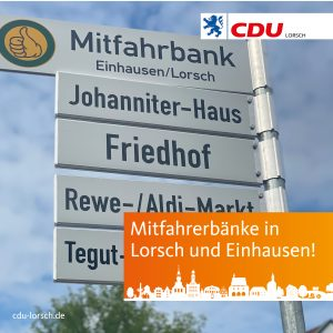 CDU Antrag umgesetzt: Mitfahrerbänke sind installiert